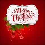 圣诞快乐卡片创造性的标签 向量 图库摄影