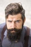 人纵向有胡子的 免版税库存图片