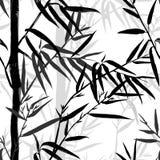 背景竹极其叶子宏指令静脉 与叶子的花卉无缝的纹理 免版税库存照片
