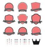 Элемент винтажного пустого шаблона ярлыка современный ретро Стоковое Изображение RF