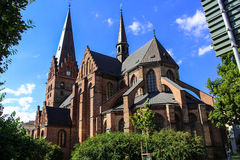 圣伯多禄教会在马尔摩,瑞典 图库摄影