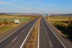 高速公路从上面 免版税库存图片