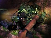 Спрятанный снайпер Стоковое фото RF