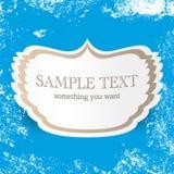 Εκλεκτής ποιότητας μπλε διανυσματικό υπόβαθρο με τη θέση για το κείμενό σας Αναδρομικό πρότυπο σχεδίου κάλυψης και καρτών Στοκ εικόνα με δικαίωμα ελεύθερης χρήσης