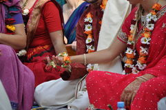 早期梵文的婚礼 库存图片