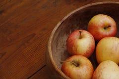 苹果碗 免版税库存照片