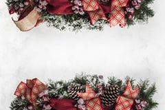 Εορταστική εικόνα υποβάθρου διακοσμήσεων διακοπών ευχετήριων καρτών Χριστουγέννων Στοκ Φωτογραφία