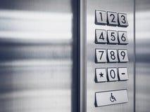 Защищенная система кнопочной панели безопасностью кода пароля Стоковые Изображения RF