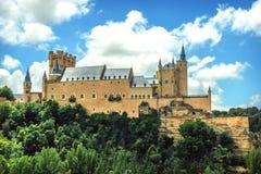 塞戈维亚,西班牙著名城堡城堡  库存照片