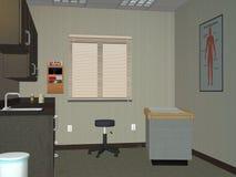 Доктор Офис, иллюстрация комнаты медицинского обследования Стоковые Изображения RF