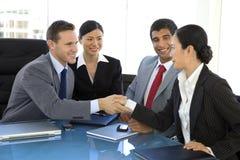 Партнерство глобального бизнеса Стоковое фото RF