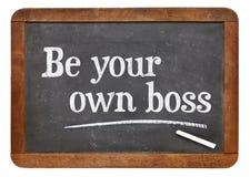 是您自己的上司-自己创业概念 免版税库存照片