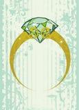 δαχτυλίδι πολύτιμων λίθων Στοκ Εικόνες