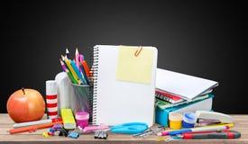 学校书桌 免版税图库摄影