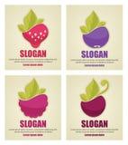 Стикеры ягоды Стоковое Изображение
