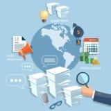 全球企业起始的训练概念手商人 免版税库存图片