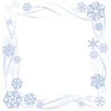 边界纸雪花 免版税库存图片