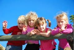 ευτυχή κατσίκια Στοκ φωτογραφία με δικαίωμα ελεύθερης χρήσης