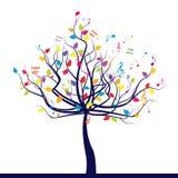 μουσικό δέντρο Στοκ εικόνα με δικαίωμα ελεύθερης χρήσης