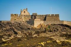 堡垒全国近圣马洛湾 库存图片