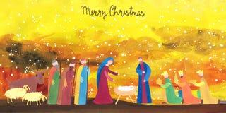 Нарисованная рукой иллюстрация рождества Стоковые Изображения