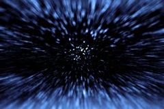 Перемещение космического времени и большая челка Стоковые Изображения