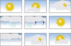 погода иконы Стоковая Фотография