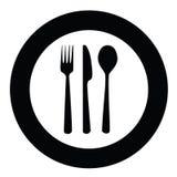 刀叉餐具牌照 库存照片