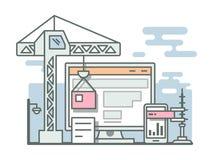 建筑网站线性样式 库存照片