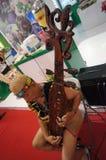 婆罗洲传统音乐 免版税库存照片