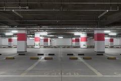 颜色对比地下作用停车 免版税库存照片