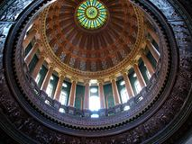 国会大厦圆顶斯普林菲尔德 免版税库存图片