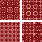 褐红的无缝的样式背景集合 库存照片