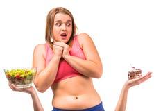 节食的肥胖妇女 免版税库存图片