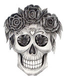День черепа искусства мертвого фестиваля Стоковое Изображение