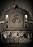 摩洛哥客厅室内设计 免版税库存照片