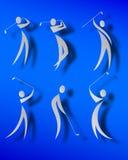 иконы гольфа Стоковая Фотография RF
