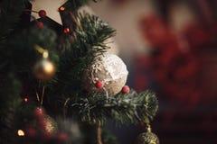 νέο έτος διακοσμήσεων Χριστουγέννων Ύφος τεχνών Στοκ Εικόνες