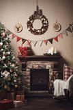 νέο έτος διακοσμήσεων Χριστουγέννων Ύφος τεχνών Στοκ εικόνα με δικαίωμα ελεύθερης χρήσης