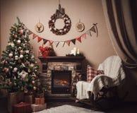νέο έτος διακοσμήσεων Χριστουγέννων Ύφος τεχνών Στοκ φωτογραφίες με δικαίωμα ελεύθερης χρήσης