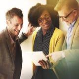 企业队讨论谈的通信概念 图库摄影
