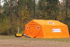 Красный Крест шатра Стоковые Фото