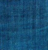 голубая текстура джинсыов джинсовой ткани Стоковые Фотографии RF