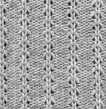 Картина связанная шерстями Предпосылка ткани крупного плана Стоковое Фото