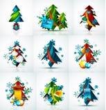 套圣诞节销售或促进价牌,新 图库摄影