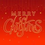 Каллиграфия рождества Стоковые Фотографии RF