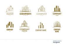 Собрание логотипа вектора для городской компании здания Стоковое Изображение