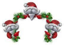 圣诞老人小组标志 免版税库存图片
