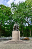 亚伯拉罕・林肯雕象在格兰特公园 免版税库存照片
