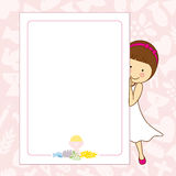 我的第一个圣餐女孩 免版税库存照片